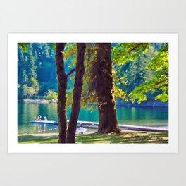 Cultas Lake Provincial Park Art Print
