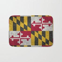 Maryland State flag - Vintage retro style Bath Mat