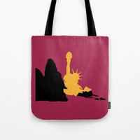 planet of the apes Tote Bags featuring Planet of the Apes by FilmsQuiz