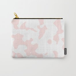 Large Spots - White and Pastel Pink Carry-All Pouch