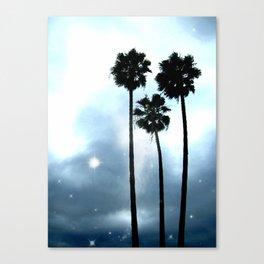 Twilight Palm Trees Canvas Print