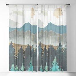 Forest Mist Sheer Curtain