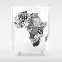 africa Shower Curtains featuring Africa by Kacenka