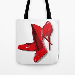Put on your red shoes and dance the blues Tote Bag