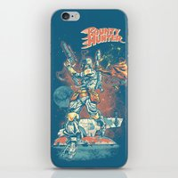 stickers iPhone & iPod Skins featuring BOUNTY HUNTER by BeastWreck