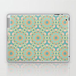 Elegant pastel islamic geometric pattern, teal & orange Laptop & iPad Skin