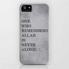 One Who Remembers Allah iPhone Case