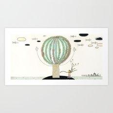 Knock Knock Knock-Tree Art Print
