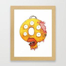 Donut Head Framed Art Print