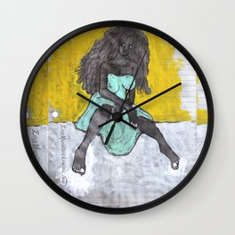 2013 Anti Oppressor Girl (black on black)  Wall Clock