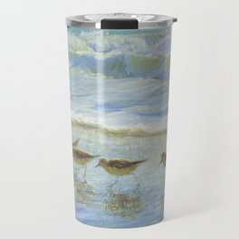 Sandpipers, A Day at the Beach Travel Mug