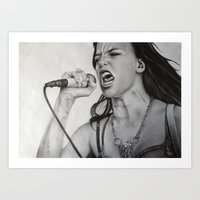 Lzzy Hale fan art Art Print