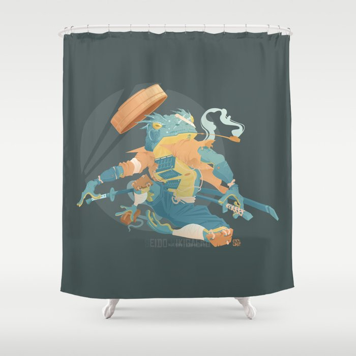 Blue Ronin Shower Curtain