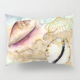 Watercolor Under Sea Collection: Shells Pillow Sham