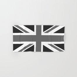 UK Flag, High Quality in grayscale Hand & Bath Towel
