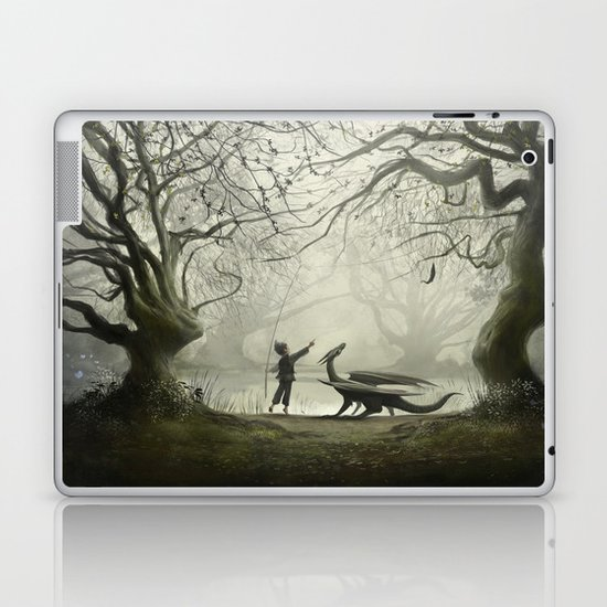 The Boy And His Dragon Laptop & iPad Skin