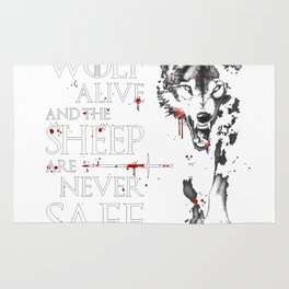 Leave one wolf alive Rug