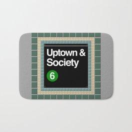society 6 subway Bath Mat