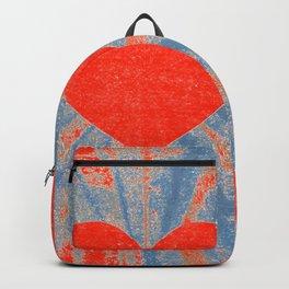 Red starburst valentine heart Backpack