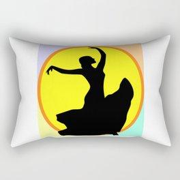 Flamenco Dancer Sun Multi Rectangular Pillow