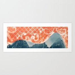 Rocky Mountain Fabric Art Print