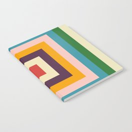 Retro Colored Square Space Notebook