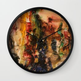 Vers le Songe et l'Abstrait, An Abstract Sketch by Gustave Moreau Wall Clock