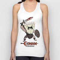 conan Tank Tops featuring Conan The Bavarian by Bobby Baxter