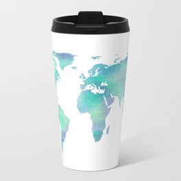 Cool Blue World Travel Mug