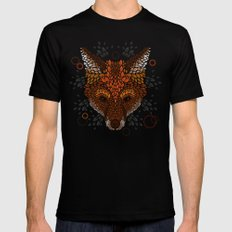 Fox Face Black Mens Fitted Tee SMALL