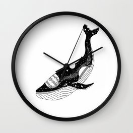 Space Whale Wall Clock