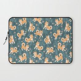 Playful Shiba Inu Pattern Laptop Sleeve
