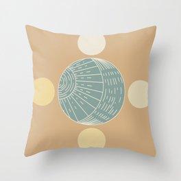 Bohemian Moon - Mid Century Modern Circles Throw Pillow