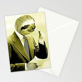 Sloth Lighting a Cigarette - Cartoon version Stationery Cards