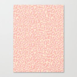 Leopard Print | Pastel Pink Girly Bedroom Cute | Cheetah texture pattern Canvas Print