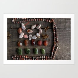 Tribal treasures Art Print