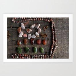 Tribal treasures Art Print