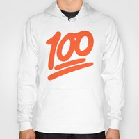 emoji Hoodies featuring 100 EMOJI by Nolan Dempsey