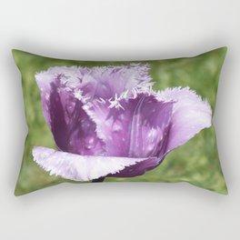 Purple Fringed Tulip Rectangular Pillow