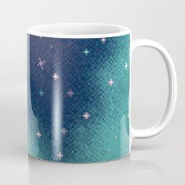 Lilac and Aqua Pixel Galaxy Coffee Mug