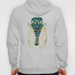 Green & Gold Cicada Hoody