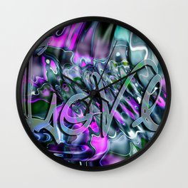 Liquid Love by Artist McKenzie Wall Clock