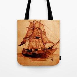 Interceptor Ship Sketch Tote Bag