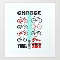 bike wars Art Print