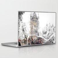 london map Laptop & iPad Skins featuring London by Nicolas Jolly