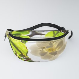 White Camellia Fanny Pack