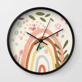 Abstract Summer 5 Wall Clock