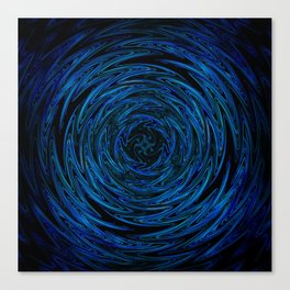 Spinning blue waves Canvas Print