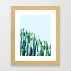 Cactus by the Sea #society6 #decor #buyart Framed Art Print