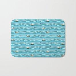 Sailing pattern 1c Bath Mat